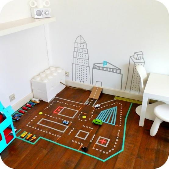 Washi páska, ozdobený dětský pokoj