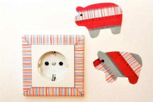 Washi páska, ozdobená zásuvka